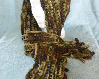 Warm and Woodsy Hooded Scarf
