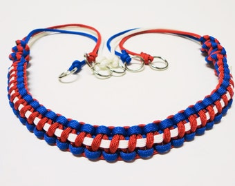 Custom Paracord Game Carrier Red/White/Blue