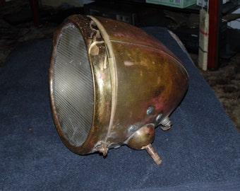 Antique 1920s truck or car headlight.  DISCOUNTED