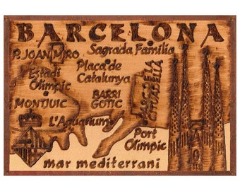 BARCELONA - Handmade Leather Passport Cover / Travel Wallet - Natural