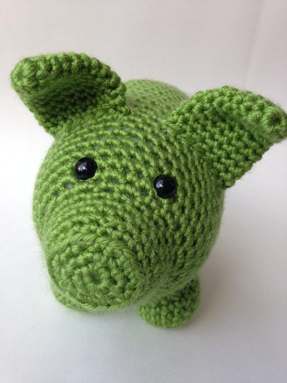 Amigurumi Green Pig : Crochet Pig Amigurumi Plush Toy Green by TheSimplyHooked ...