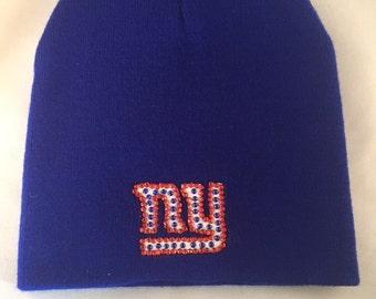 NY Giants blinged beanie