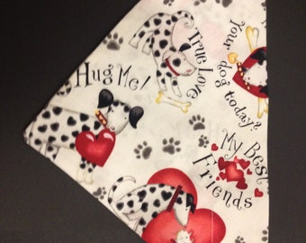 Dog bandana, Hearts and Dogs