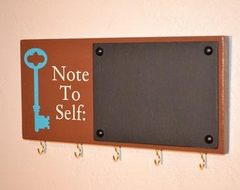 Chalkboard Key Holder - Chalkboard Key Hook - Blackboard Key Hook - Blackboard Key Holder -Organizer - Kitchen Organizer - Wood