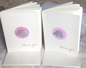 Thank  you  Baby Cards, Baby shower thank you cards, Baby Girl, Set of 12