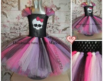 Monster High Inspired tutu girls tutu dress