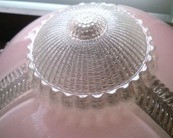 Vintage Glass Light Fixture. 1940's era.  Perfect condition.  Mid Century