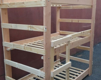 Full Size Custom-Made Triple Bunk Bed