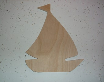 "Wooden Sail Boat, Sail Boat, Wood Sale Boat, Fishing, Nautical, Wood Supplies, Wood Shapes, Wood Crafts, Craft Supplies -   8 1/2"" x 6"""