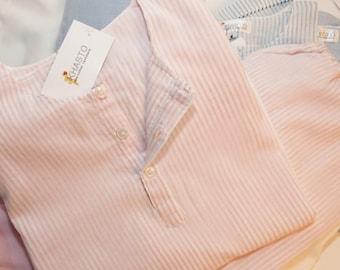 Khasto Pajama for Kids - handmade sleepwear, premium quality & ultrasoft (Pink Stripes)