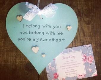 Special lyrics wooden heart