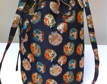 SALE Bucket Bag Japanese Brocade Poly Lining