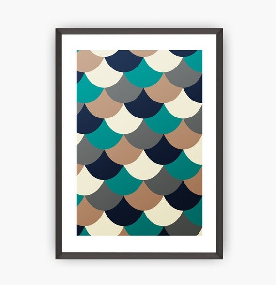 abstract print geometric print gift print by shoptempsmodernes. Black Bedroom Furniture Sets. Home Design Ideas