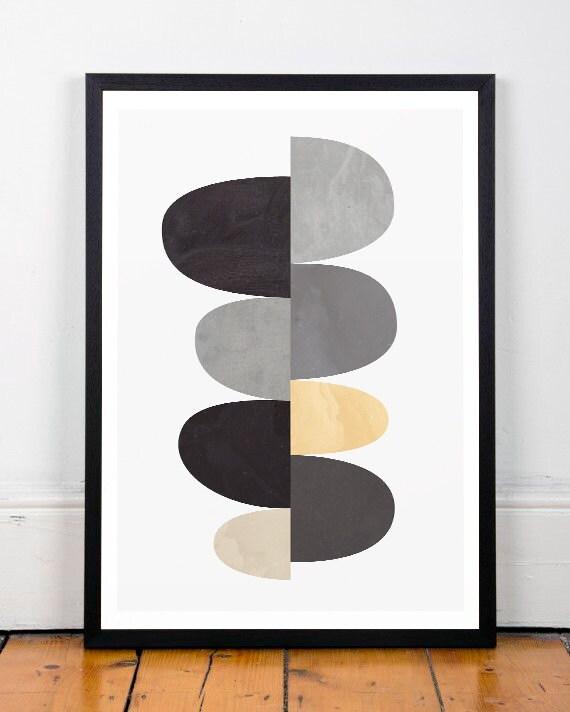 Geometric art print abstract art scandinavian art for Minimalist art decor