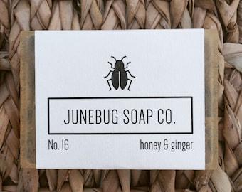 Honey & Ginger Bar Soap - Natural Soap, Honey Soap, Handmade Soap, Bar Soap, Herbal Soap, Ginger Soap, All Natural Soap, Homemade Soap