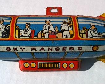 Sky Ranger Metal Toy Blimp 1940s/50s
