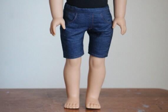 Dark Wash Denim Shorts for American Girl Dolls