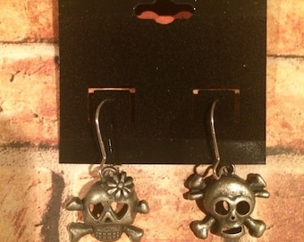 His and Hers Skull Earrings