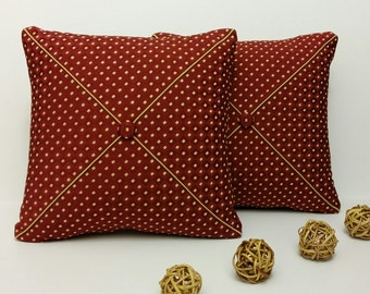Set of 2 - Burgundy Throw Pillows - Decorative Pillow - Accent Pillows for Couch - Burgundy Cushions - Housewarming Gift - Choose size