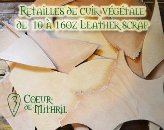 Vegetal tanned leather scrap