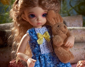 "BJD YoSD LittleFee cotton dress ""Hortensia"""