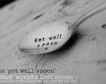 Get Well Spoon  - Hand-Stamped Personalised Spoon