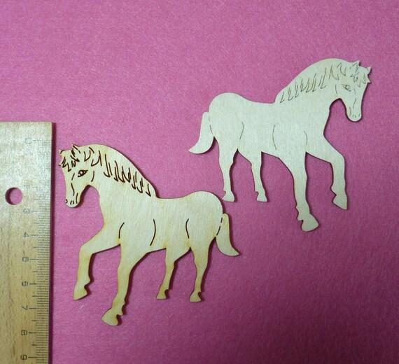 pferd aus holz 8cm hoch zum basteln für kinder türschild,