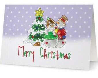 Merry Christmas Folded Christmas Cards