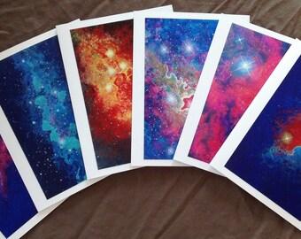 Space Nebula Note Cards, Set of 6