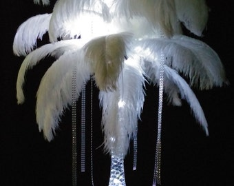 DIY Mystique Ostrich Feather Centerpiece Weddings & Special Events with or without stand