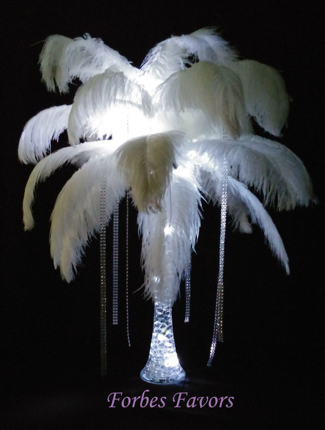 Diy mystique ostrich feather centerpiece weddings special