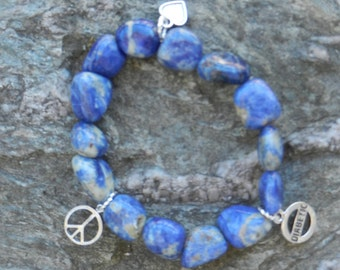 Be in peace with diabetes's sodalite bracelet