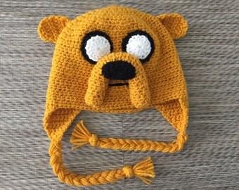 Custom Crochet Jake the Dog Beenie