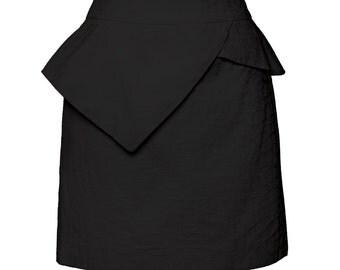 Kristina peplum skirt Black