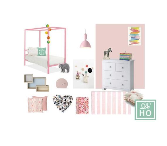 Kids girl bedroom project interior design service e design for Room and board kids