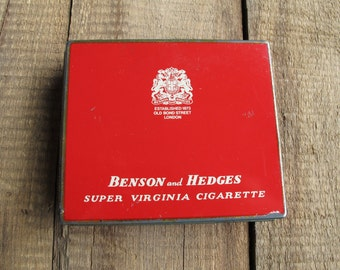 Vintage Benson and Hedges Cigarette Tobacco Tin