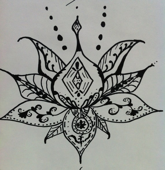 Lotus Mandala Art Lotus Flower Art Henna Style