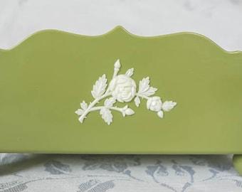 SCHWARZ BROS. Vintage Retro Plastic Serviette Holder -  Avacado Green - 1950-1960's
