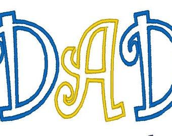 dad applique design for 4*4 Hoop Machine Embroidery Design curlz applique