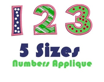 Happy Numbers Applique Design, Numbers Applique Design, Numbers Applique Download,3 Inche Number,4 Inch,5,6 and 7 Inch Numbers. Instant