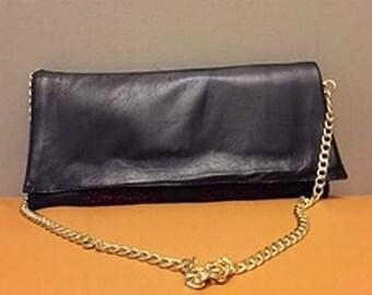 Crochet - Leather Clutch Bag