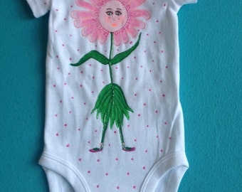 Flower girl onesie