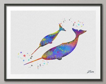 dolphin Print dolphin watercolor dolphin art illustration dolphin poster wall decor wall hanging art decor dolphin poster gift A032