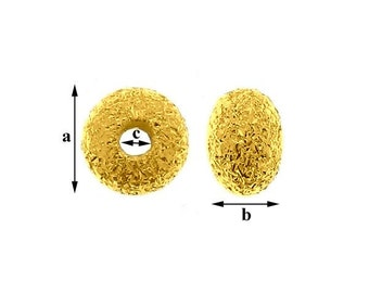 Gold-plated Spacer bars Sterling Silver 925