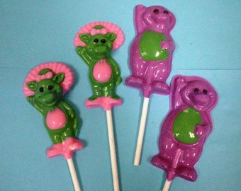 12 Barney & Baby Bop chocolate lollipops