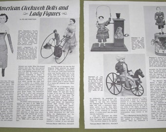 1982 Doll Magazine Article Reference  American Clockwork Dolls & Lady Figures