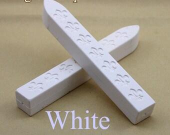 2pcs  White Sealing Wax Sticks for Wax Seal Stamp