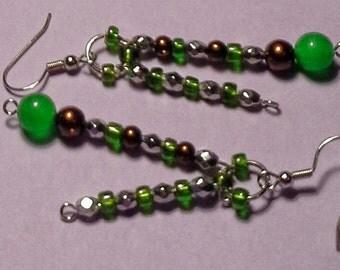 Handmade Jade Earrings.