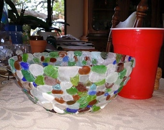 Authentic Sea Glass Bowl Large!