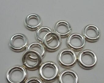 925 solid Sterling silver jump rings. Closed rings .12 mm. handmade.. Wholesale. JR23